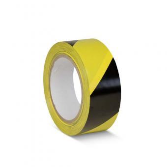 Bodenmarkierungsklebeband Standard schwarz/gelb 50mm x 33m