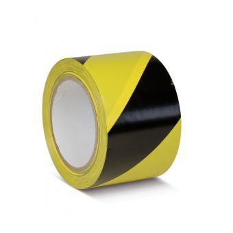 Bodenmarkierungsklebeband Standard schwarz/gelb 75mm x 33m