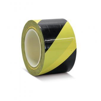 Bodenmarkierungsklebeband Schutzlaminiert schwarz/gelb 75mm x 16,5m