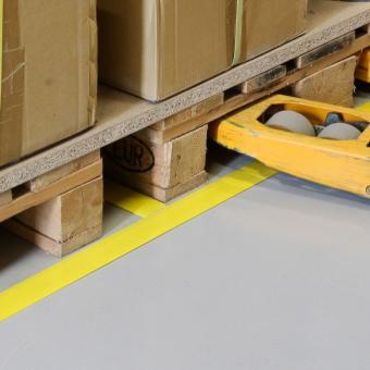 Bodenmarkierungsplatte GFK gelb 50x1000mm