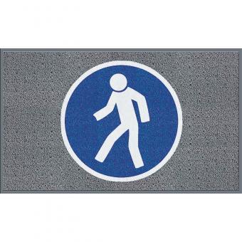 """m2-Logomatte Medium """"Für Fußgänger"""" Querformat 90x150cm"""