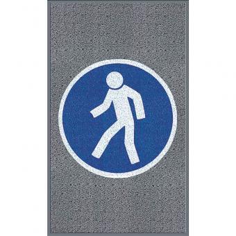 """m2-Logomatte Extra Stark """"Für Fußgänger"""" Hochformat 90x150cm"""