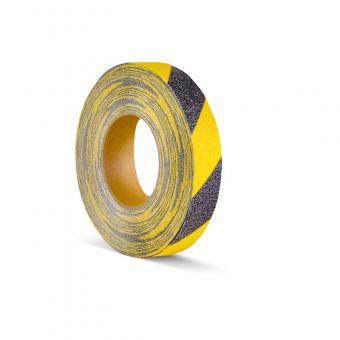 m2-Antirutschbelag Warnmarkierung schwarz/gelb Rolle 25mm x 18,3m