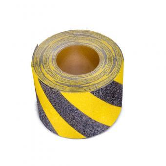 m2-Antirutschbelag Warnmarkierung schwarz/gelb Rolle 150mm x 18,3m