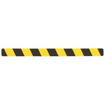 m2-Antirutschbelag Warnmarkierung schwarz/gelb Einzelstreifen 50x650mm, 10er VE
