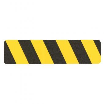m2-Antirutschbelag Warnmarkierung schwarz/gelb Einzelstreifen 150x610mm, 10er VE