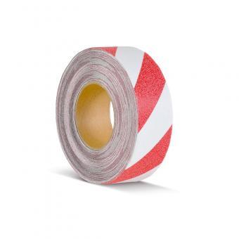 m2-Antirutschbelag Warnmarkierung rot/weiß Rolle 50mm x 18,3m