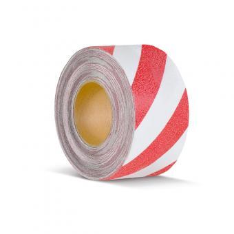m2-Antirutschbelag Warnmarkierung rot/weiß Rolle 75mm x 18,3m