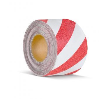 m2-Antirutschbelag Warnmarkierung rot/weiß Rolle 100mm x 18,3m