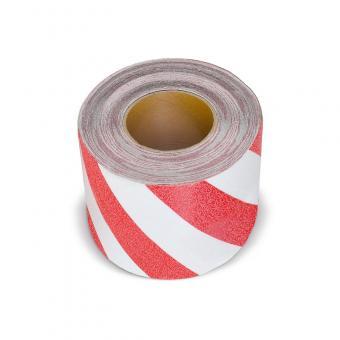 m2-Antirutschbelag Warnmarkierung rot/weiß Rolle 150mm x 18,3m