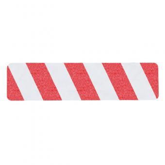 m2-Antirutschbelag Warnmarkierung rot/weiß Einzelstreifen 150x610mm, 10er VE