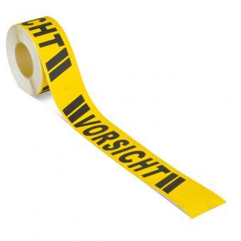 m2-Antirutschbelag Warnmarkierung schwarz/gelb mit Text (Rolle) Vorsicht Rolle 75mm x 18,3m