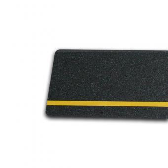 m2-Antirutschbelag Multifunktionsbelag schwarz mit Streifen gelb 150x610mm