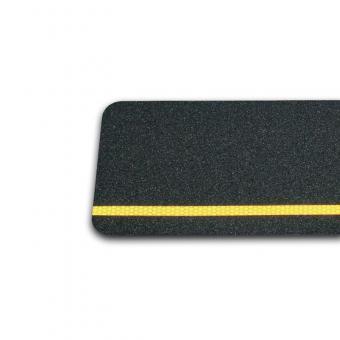 m2-Antirutschbelag Multifunktionsbelag schwarz mit Streifen gelb reflektierend 150x610mm