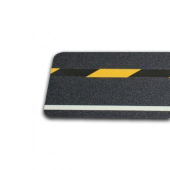 m2-Antirutschbelag Multifunktionsbelag schwarz Streifen SG & nachleuchtend 150x610mm