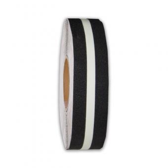 m2-Antirutschbelag Multifunktionsbelag schwarz mit Streifen nachleuchtend Rolle 50mm x 18,3m