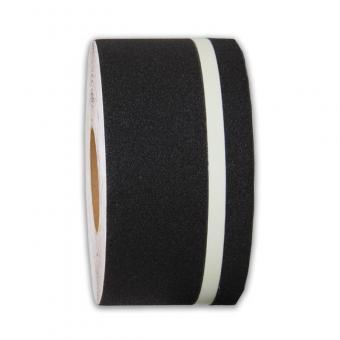 m2-Antirutschbelag Multifunktionsbelag schwarz mit Streifen nachleuchtend Rolle 100mm x 18,3m