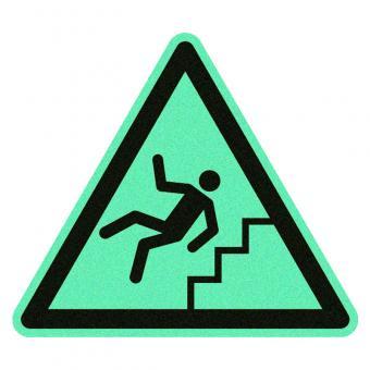 Vorsicht Treppe nachleuchtend