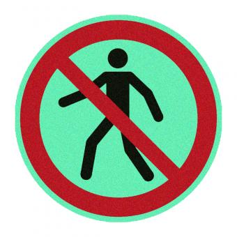 Fußgänger verboten nachleuchtend