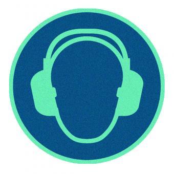 Gehörschutz benutzen nachleuchtend
