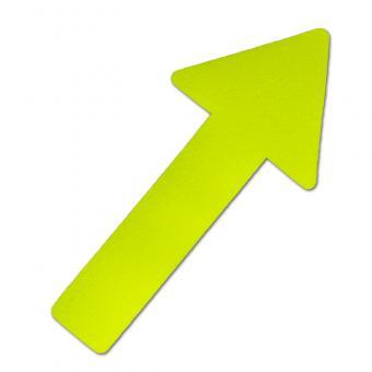 m2-Antirutschbelag Hinweismarkierung Signalfarbe gelb Pfeil 130x280mm, 10er VE