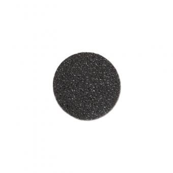 m2-Antirutschbelag Hinweismarkierung Extra Stark Verformbar schwarz Kreis 90mm, 50er VE