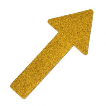 m2-Antirutschbelag Hinweismarkierung Public 46 gelb Pfeil 130x280mm, 10er VE