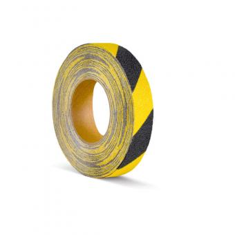 m2-Antirutschbelag Verformbar schwarz/gelb Rolle 25mm x 18,3m