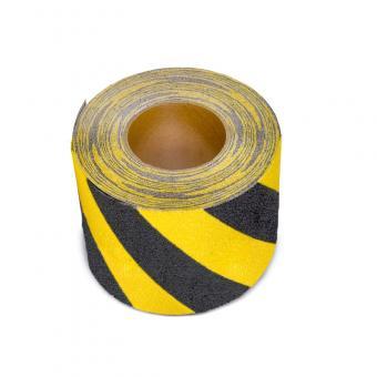 m2-Antirutschbelag Verformbar schwarz/gelb Rolle 150mm x 18,3m