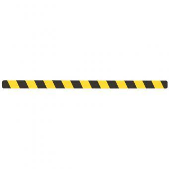 m2-Antirutschbelag Verformbar schwarz/gelb Einzelstreifen 50x1000mm, 10er VE