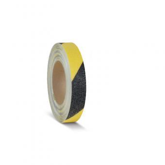m2-Antirutschbelag Easy Clean schwarz/gelb Rolle 25mm x 18,3m