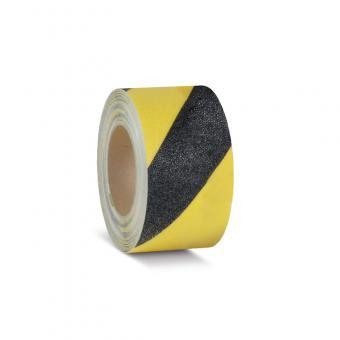 m2-Antirutschbelag Easy Clean schwarz/gelb Rolle 100mm x 18,3m