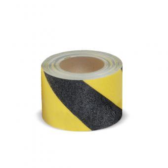 m2-Antirutschbelag Easy Clean schwarz/gelb Rolle 150mm x 18,3m