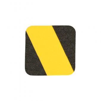 m2-Antirutschbelag Easy Clean schwarz/gelb Einzelstreifen 140x140mm, 10er VE
