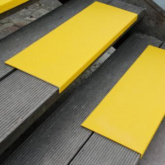 Antirutschkantenprofil GFK Medium gelb 230x800x30mm