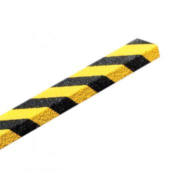 Antirutschtreppenkantenprofil GFK Medium schwarz/gelb Abm. 70 x 1000 x 30mm