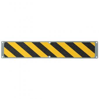 Antirutschplatte Aluminium Warnmarkierung schwarz/gelb 114x1000mm