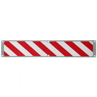 Antirutschplatte Aluminium Warnmarkierung rot/weiß 114x635mm