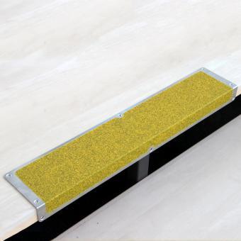 Antirutschkantenprofil Aluminium Public 46 gelb 120x1000x45mm