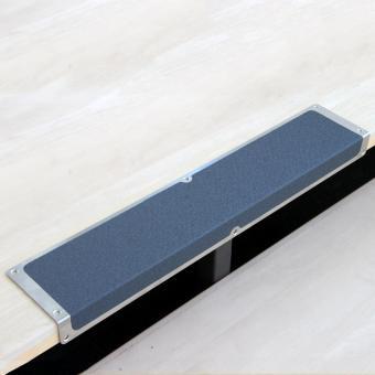 Antirutschkantenprofil Aluminium Easy Clean grau 120x1000x45mm