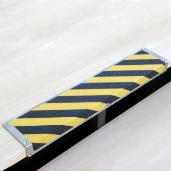 Antirutschkantenprofil Aluminium Easy Clean schwarz/gelb 120x635x45mm