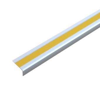 Antirutschtreppenkantenprofil Aluminium Universal, schraubbar gelb 53x800x31mm