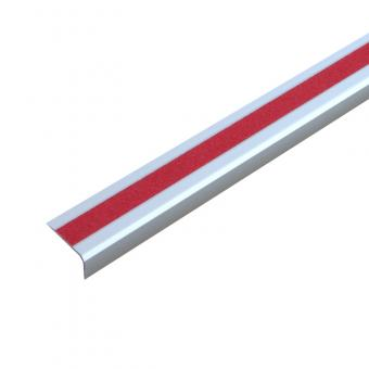 Antirutschtreppenkantenprofil Aluminium Universal, schraubbar rot 53x610x31mm