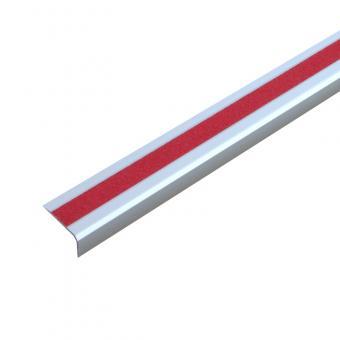Antirutschtreppenkantenprofil Aluminium Universal, schraubbar rot 53x800x31mm