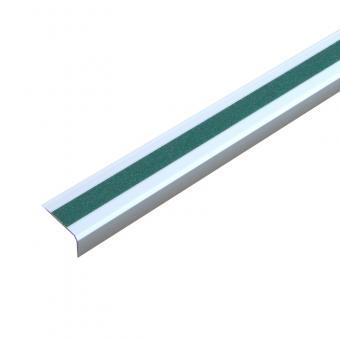 Antirutschtreppenkantenprofil Aluminium Universal, schraubbar grün 53x800x31mm