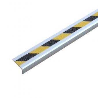 Antirutschtreppenkantenprofil Aluminium Warnmarkierung, schraubbar schwarz/gelb 53x610x31mm