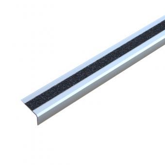 Antirutschtreppenkantenprofil Aluminium Extra Stark schwarz, schraubbar 53x610x31mm