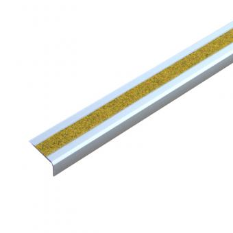 Antirutschtreppenkantenprofil Aluminium Public 46 gelb, schraubbar 53x610x31mm