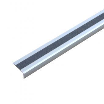 Antirutschtreppenkantenprofil Aluminium Easy Clean, schraubbar grau 53x1000x31mm
