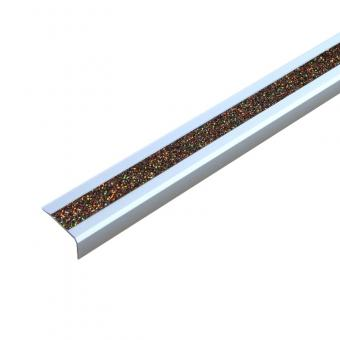 Antirutschtreppenkantenprofil Aluminium GlitterGrip, schraubbar 53x610x31mm gold